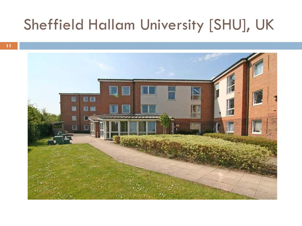Sheffield Hallam University [SHU], UK